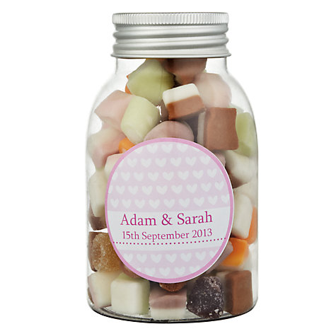 Buy Fine Confectionery Company Personalised Dolly Mix Hearts Jar, Pack of 25, Large Online at johnlewis.com