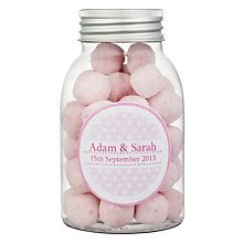 Buy Fine Confectionery Company Personalised Bon Bons Spotty Jar, Pack of 25, Large Online at johnlewis.com