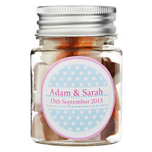 Buy Fine Confectionery Company Personalised Dolly Mix Spotty Jar, Pack of 25, Small Online at johnlewis.com