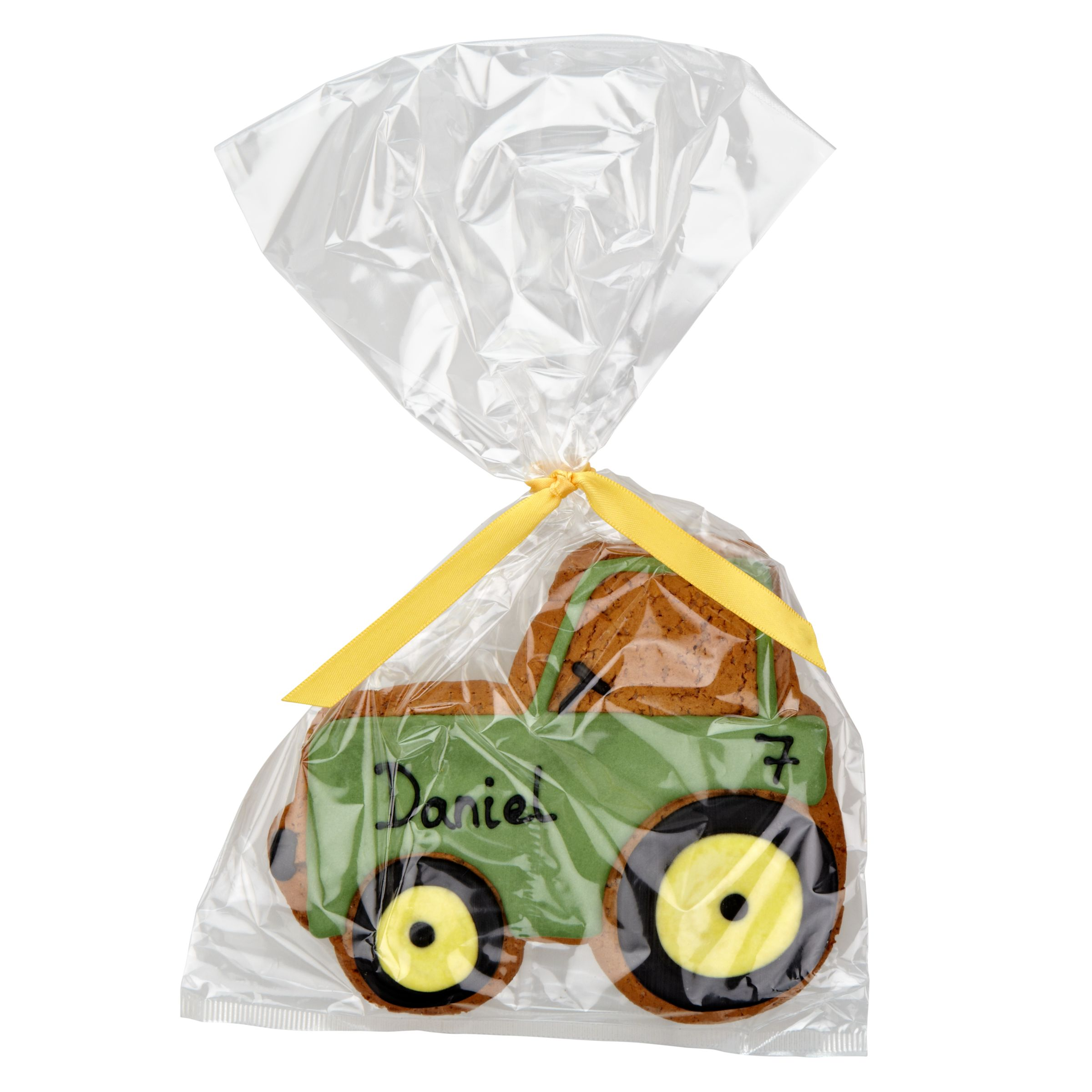 Image on Food Image on Food Personalised Happy Birthday Tractor Gingerbread, Pack of 10
