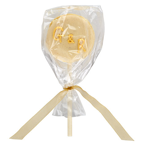 Buy Image on Food Personalised Macaroon Pop, Pack of 50, Yellow Online at johnlewis.com