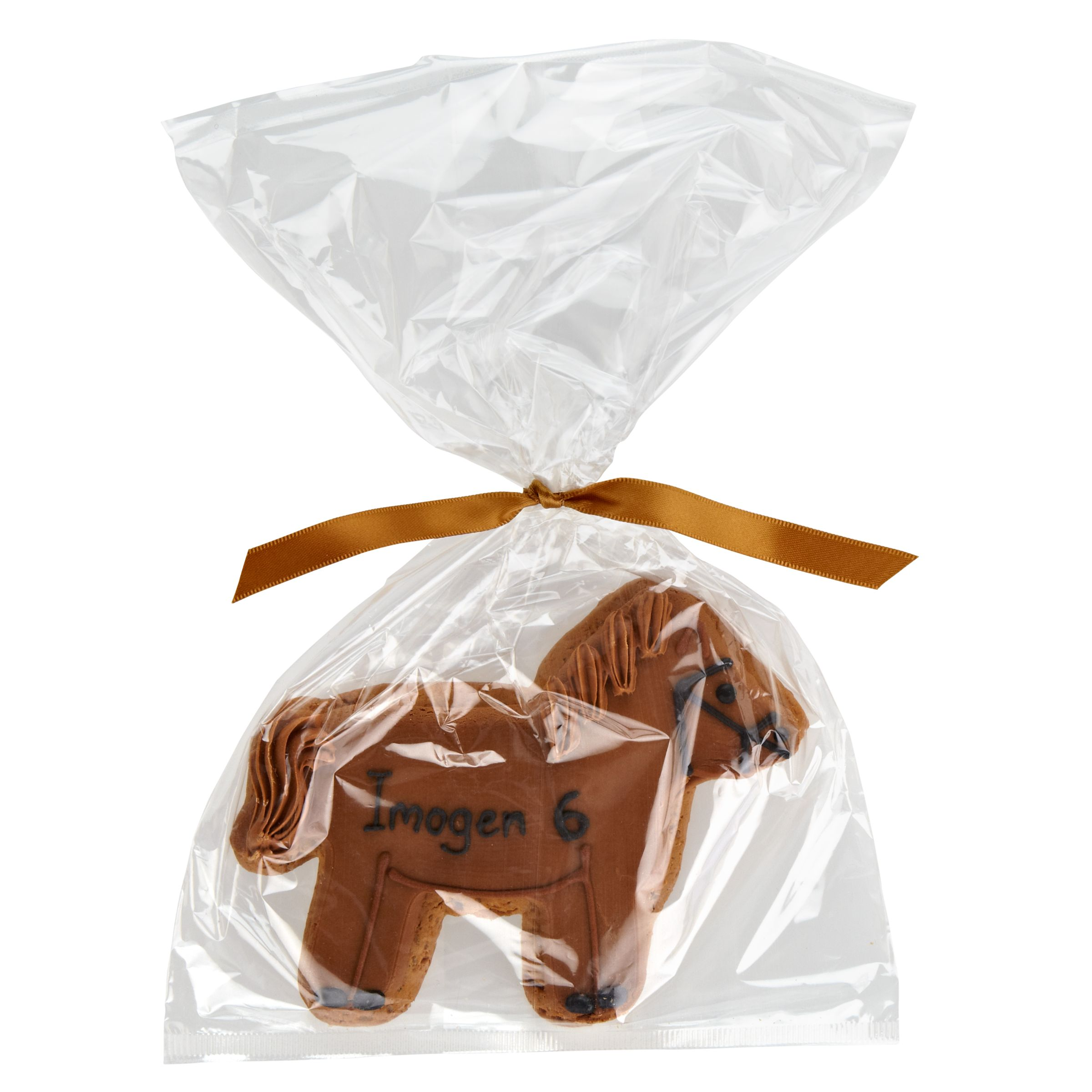 Image on Food Image on Food Personalised Happy Birthday Horse Gingerbread, Pack of 10