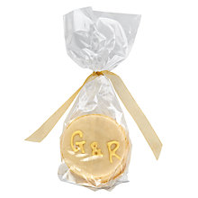Buy Image on Food Personalised Macaroon Pair, Pack of 50, Yellow Online at johnlewis.com