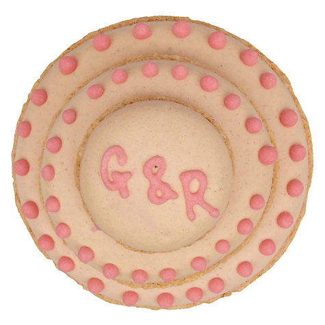 Buy Image on Food Personalised Macaroon Cake, Pack of 50, Pink Online at johnlewis.com