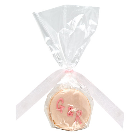 Buy Image on Food Personalised Macaroon Pair, Pack of 50, Pink Online at johnlewis.com