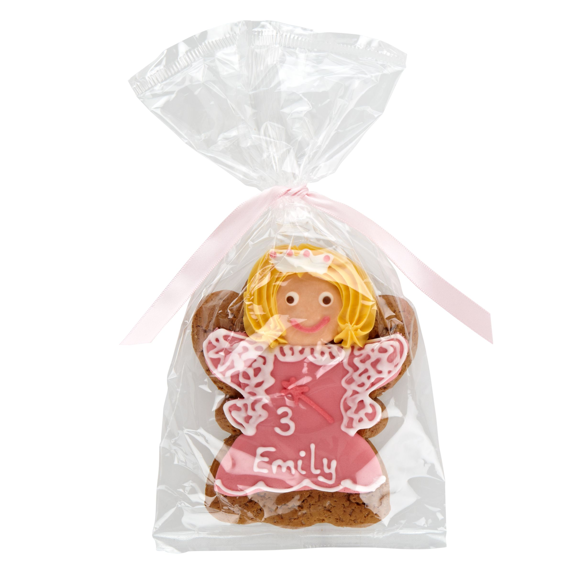 Image on Food Image on Food Personalised Happy Birthday Princess Gingerbread, Pack of 10