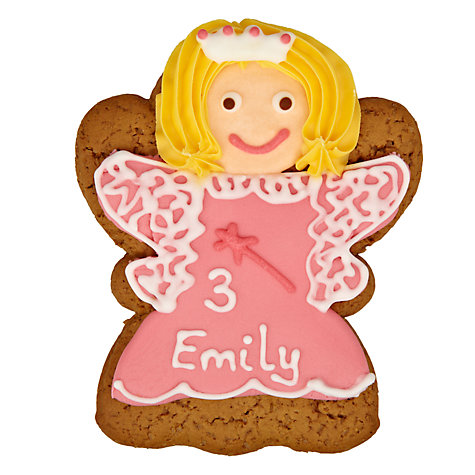 Buy Image on Food Personalised Happy Birthday Princess Gingerbread, Pack of 10 Online at johnlewis.com