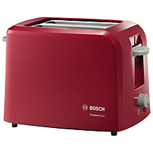 Buy Bosch TAT3A014GB Village 2-Slice Toaster, Red Online at johnlewis.com