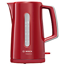 Buy Bosch TWK3A034GB Village Kettle, Red Online at johnlewis.com