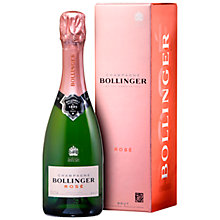 Buy Bollinger Rosé 1846 Half Bottle, 37.5cl Online at johnlewis.com