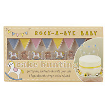 Buy Ginger Ray Rock A Bye Baby Cake Bunting Online at johnlewis.com