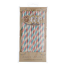 Buy Ginger Ray Rock A Bye Baby Paper Straws, Pack of 25 Online at johnlewis.com