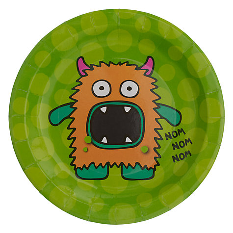 Buy Monster Madness Paper Plates, Pack of 8 Online at johnlewis.com