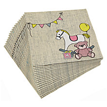 Buy Ginger Ray Rock A Bye Baby Disposable Napkins, Pack of 20 Online at johnlewis.com