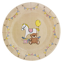 Buy Ginger Ray Rock A Bye Baby Paper Plates, Pack of 8 Online at johnlewis.com