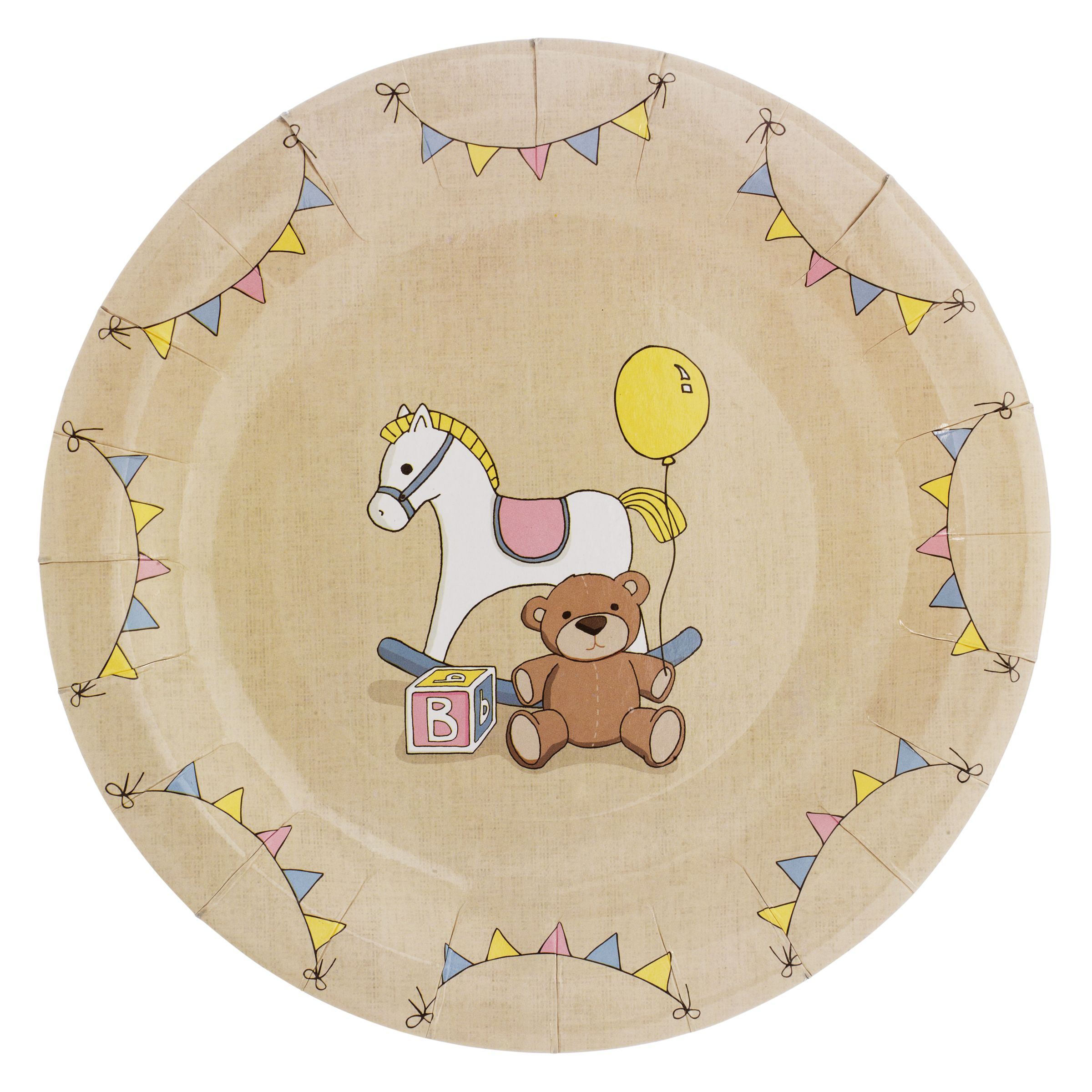 Rock A Bye Baby Paper Plates, Pack of 8