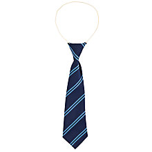 "Buy School Unisex Elastic Tie, L12"", Blue/Multi Online at johnlewis.com"