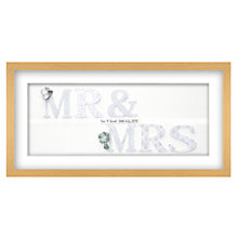 Buy John Lewis Mr & Mrs Personalised 3D Laser-cut Print, Silver, 32.5 x 62.5cm Online at johnlewis.com