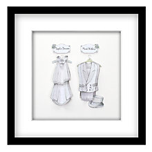 Buy John Lewis Suits Mr & Mrs Personalised 3D Laser-cut Print, Silver, 43 x 43cm Online at johnlewis.com