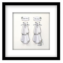 Buy John Lewis Suits Mrs & Mrs Personalised 3D Laser-cut Print, Silver, 43 x 43cm Online at johnlewis.com