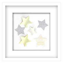 Buy John Lewis Star is Born Personalised 3D Laser-cut Print, White Frame, 42 x 42cm Online at johnlewis.com