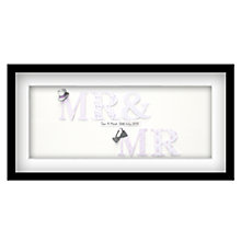 Buy John Lewis Mr & Mr Personalised 3D Laser-cut Print, Lilac, 32.5 x 62.5cm Online at johnlewis.com