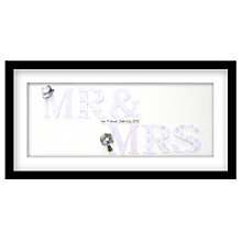 Buy John Lewis Mrs & Mrs Personalised 3D Laser-cut Print, Lilac, 32.5 x 62.5cm Online at johnlewis.com