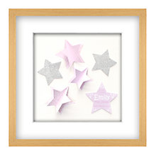 Buy John Lewis Star is Born Personalised 3D Laser-cut Print, Oak Frame, 41.5cm x 41.5cm Online at johnlewis.com