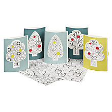 Buy Jurianne Matter Tree Christmas Cards, Set of 5 Online at johnlewis.com