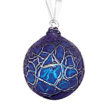 Buy Shakspeare Glass Metallic Crackle Hand Blown Glass Bauble Online at johnlewis.com