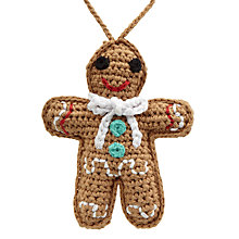 Buy Best Years Crochet Gingerbread Man Tree Decoration Online at johnlewis.com