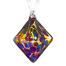 Buy Shakspeare Glass Jewel Diamond Hand Blown Glass Tree Decoration, Multi Online at johnlewis.com