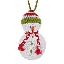 Buy Best Years Crochet Snowman Tree Decoration Online at johnlewis.com