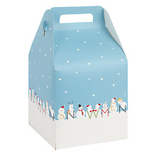 Buy John Lewis Pop Up Snowman Gift Bag, Large Online at johnlewis.com