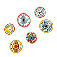 Buy Jurianne Matter Circle Oranments, Set of 9 Online at johnlewis.com