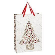 Buy John Lewis Holly Tree Gift Bag, Large Online at johnlewis.com