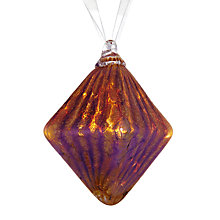 Buy Shakspeare Glass Iridescent Opaline Diamond Hand Blown Glass Tree Decoration, Multi Online at johnlewis.com