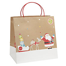 Buy John Lewis Santa Kraft Bag Shopper Online at johnlewis.com
