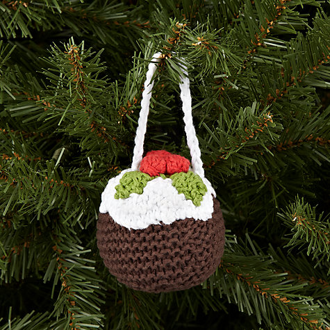 Buy Best Years Crochet Christmas Pudding Tree Decoration Online at johnlewis.com
