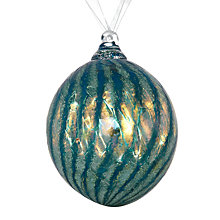 Buy Shakspeare Glass Metalic Opaline Hand Blown Glass Bauble, Cobalt Blue Online at johnlewis.com