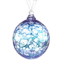 Buy Shakspeare Glass Metalic Chips Hand Blown Glass Bauble, Blue Online at johnlewis.com