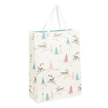 Buy John Lewis Vintage Sleigh Gift Bag, Large Online at johnlewis.com