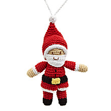 Buy Best Years Crochet Santa Tree Decoration Online at johnlewis.com