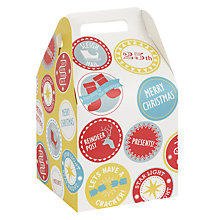 Buy John Lewis Pop Up Christmas Badges Gift Bag, Large Online at johnlewis.com