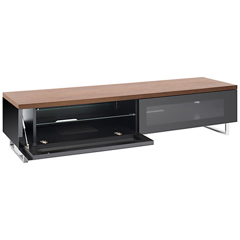 "Buy Techlink PM160W Panorama TV Stand for up to 65"" TVs, Gloss Black Online at johnlewis.com"