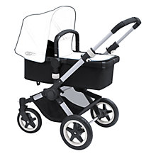 Buy Bugaboo Buffalo Black/Silver Pushchair Base bundle with Red tailored fabric Online at johnlewis.com