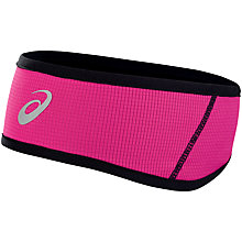 Buy Asics Winter Headband. Pink Online at johnlewis.com