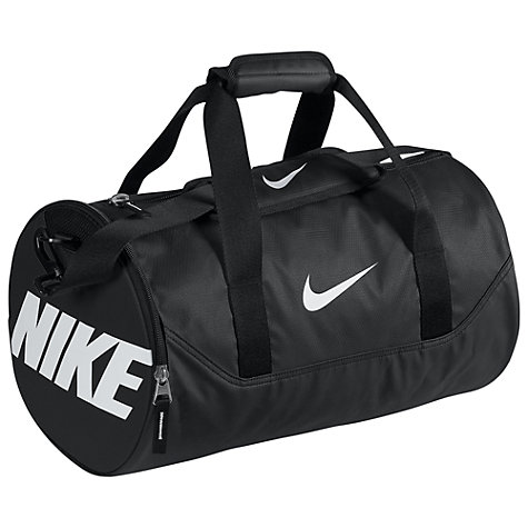 Buy Nike Team Training Mini Duffle Bag, Black/White Online at johnlewis.com