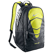 Buy Nike Vapor Max Air Backpack, Black/Yellow Online at johnlewis.com
