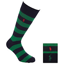 Buy Polo Ralph Lauren Rugby Stripe Socks, Pack of 2 Online at johnlewis.com